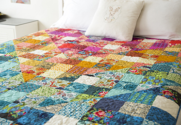 Color Dive Half Square Triangle Quilt By Anna Maria Horner